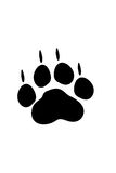 Cat foot print Royalty Free Stock Photos