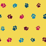 Cat footprints pattern Stock Photos