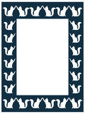 Cat frame Royalty Free Stock Photos