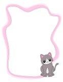 Cat frame / border Stock Image