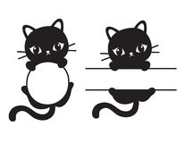 Cat Frame Vector Illustration negra linda libre illustration