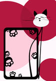 Cat framework. Vector image of cat framework. good use like frame for your photos Stock Images