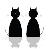 Cat front and back position vector illustration Stock Image