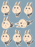 Cat Fun Sticker Set Arkivfoton