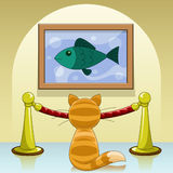 Cat in gallery Stock Photography