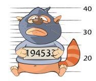 Cat Gangster Cartoon bonito Fotografia de Stock