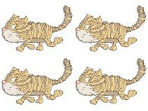 Cat gift card or cloth, pattern, repeating pattern, Stock Photography