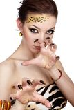 Cat girl Royalty Free Stock Images