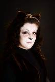 Cat-girl. Portrai of a cat-girl. Studio shot Royalty Free Stock Photos