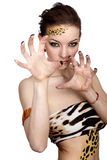 Cat girl Stock Photography