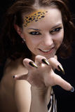 Cat girl Royalty Free Stock Image