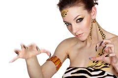 Cat girl Stock Photography