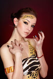 Cat girl Stock Photos