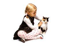 cat girl Στοκ Εικόνες