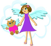 Cat and Girl Angel Royalty Free Stock Images