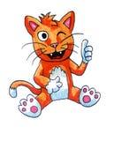 Cat Giving feliz A tiene gusto libre illustration