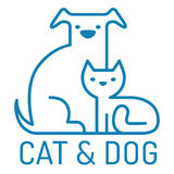 Cat and gog Stock Images
