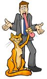 Cat got your tongue?. Illustration of the phrase cat got your tongue Royalty Free Stock Photos