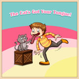 Cat got your tongue Stock Photo
