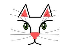 Cat With Green Eyes und lange Bärte stock abbildung