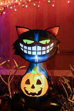 Cat Halloween Decoration preta Fotos de Stock Royalty Free