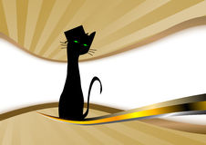 Cat in a hat. Clip-art Royalty Free Stock Photography
