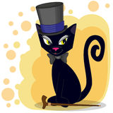 Cat in a hat Royalty Free Stock Photography