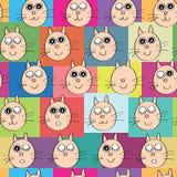Cat Head Face Semaless Pattern Imagen de archivo