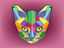 Cat head with geometric style Royalty Free Stock Images