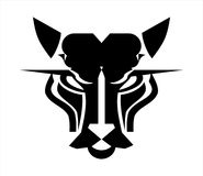 Cat head logo. Panther head icon. Stock Images
