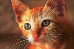 Cat Head Shot Fractals Illustration Fotografia Stock
