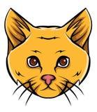 Cat Head Tattoo Vector Illustration Stock Photos