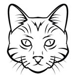 Cat Head Tattoo Vector Illustration Royalty Free Stock Image