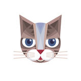 Cat head - vector sign illustration. Cat logo. Cat animal symbol. Cat head vector concept illustration. Feline illustration. Royalty Free Stock Image