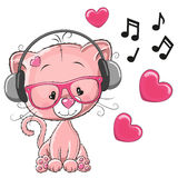 Cat with headphones Royalty Free Stock Photography