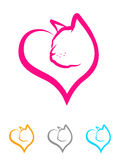 Cat Heart Royalty Free Stock Image