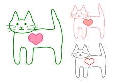 Cat,heart Royalty Free Stock Photos