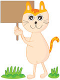 Cat Holding Board Stock Photo