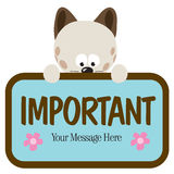 Cat Holding Sign Royalty Free Stock Photo