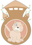 Cat In The Home_eps vector illustration