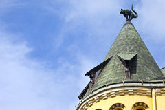 Cat House in Riga Royalty Free Stock Photography