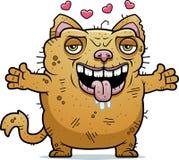 Cat Hug feia ilustração royalty free