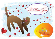 Cat I Miss You Illustration Royalty Free Stock Photography