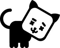 Cat icon. Cartoon minimalistic design Stock Image