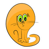 Cat icon.cartoon pet illustration Stock Image