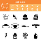Cat icon set  Royalty Free Stock Photography