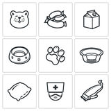 Cat icon set Stock Image