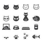 Cat icon set Royalty Free Stock Photos