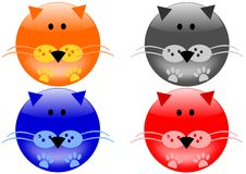 Cat icons royalty free stock images