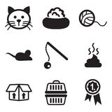 Cat Icons ilustración del vector